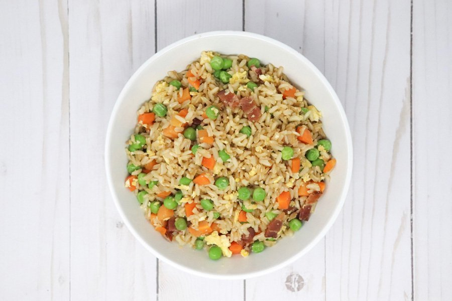 Easy Fried Rice With Bacon Low-Calorie