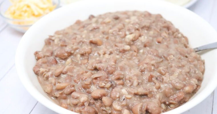 Crockpot Pinto Beans Two Ways – Low-Calorie, Gluten-Free