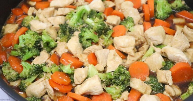 Teriyaki Chicken with Vegetables – Low-Calorie, Low-Carb
