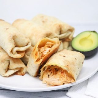 Oven Baked Chicken Chimichangas