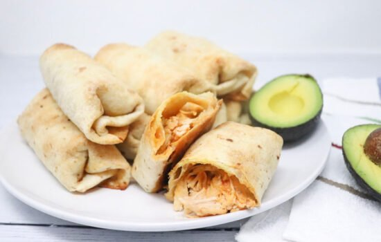 Oven Baked Chicken Chimichangas Lower-Calorie