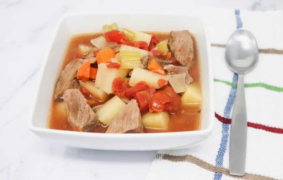 Slow Cooker Beef Stew Low-Calorie