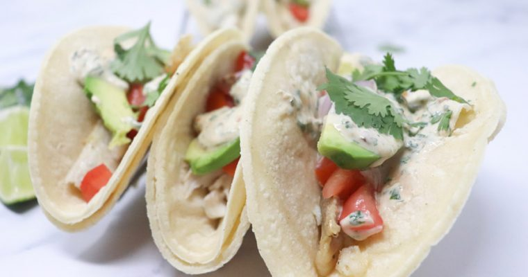 Fish Tacos with Skinny Chipotle Sauce – Low-Calorie, Gluten-Free