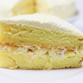 lemon cake with pineapple filling
