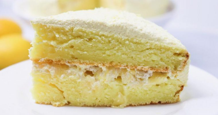 Lemon Cake with Pineapple Filling – Lower-Calorie Dessert