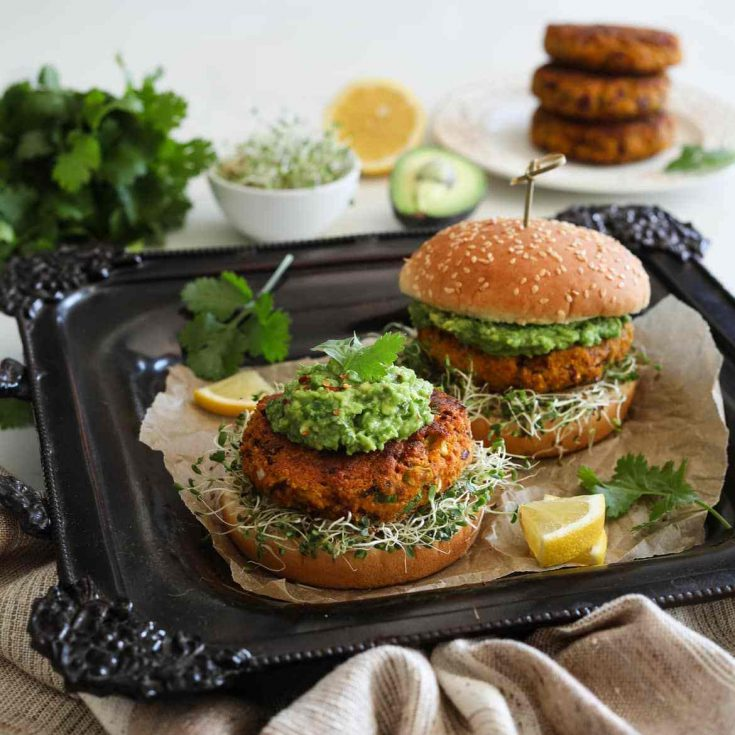 Desi Pumpkin Bean Burger