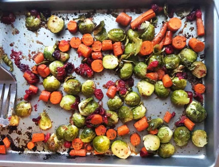 Sheetpan Maple Balsamic Roasted Vegetables -Vegan, Gluten-Free