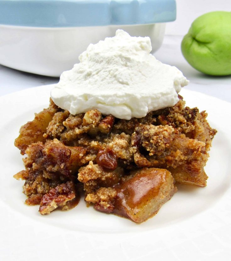 Keto Mock Apple Crumble - Low Carb, Gluten-Free