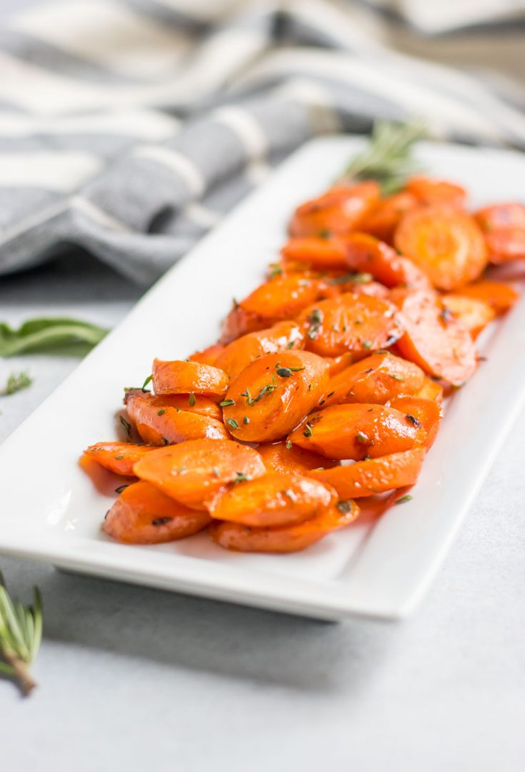 Simple Maple Herb Roasted Carrots - Gluten-Free, Vegetarian
