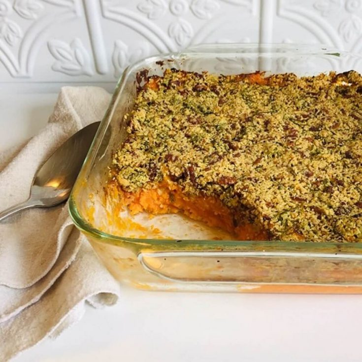 Vegan Sweet Potato Casserole - Gluten-Free