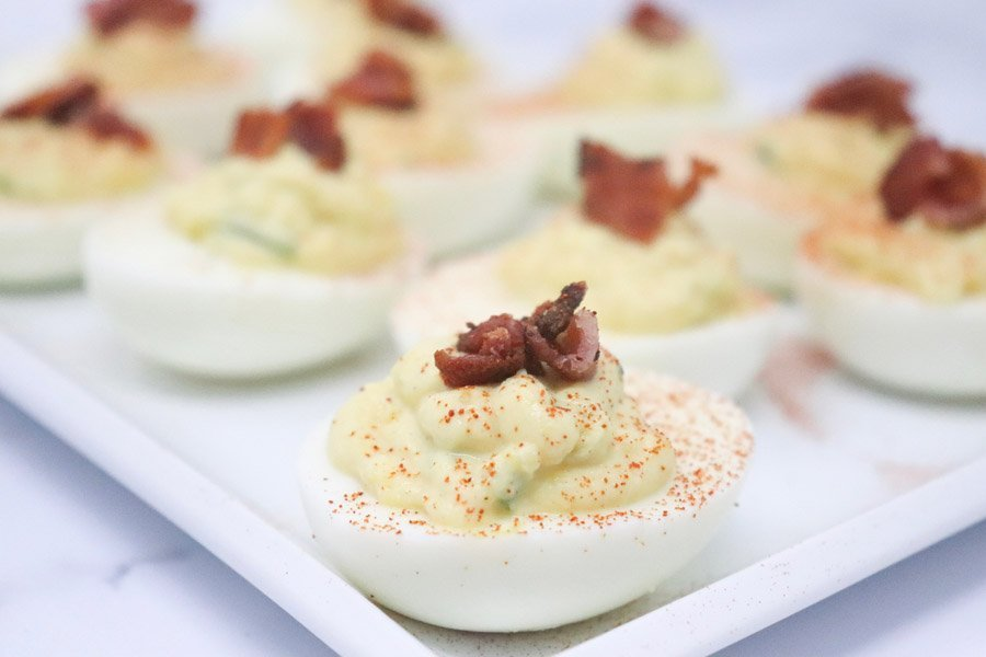 Jalapeño Deviled Eggs – Low-Calorie, Low-Carb, GF