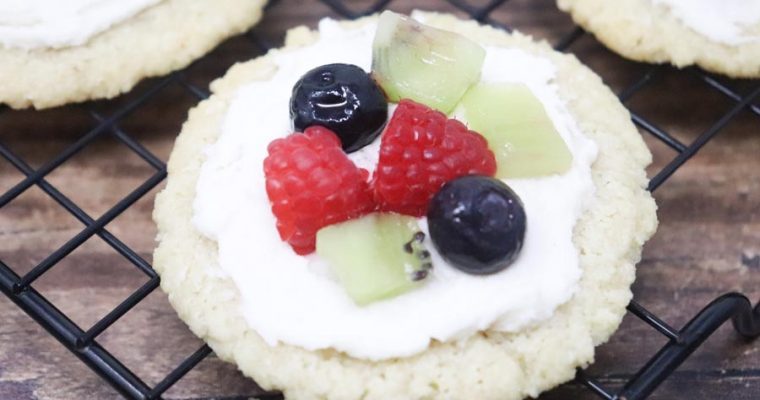 Fruit Pizza Sugar Cookies – Low-Carb, Low-Calorie, GF
