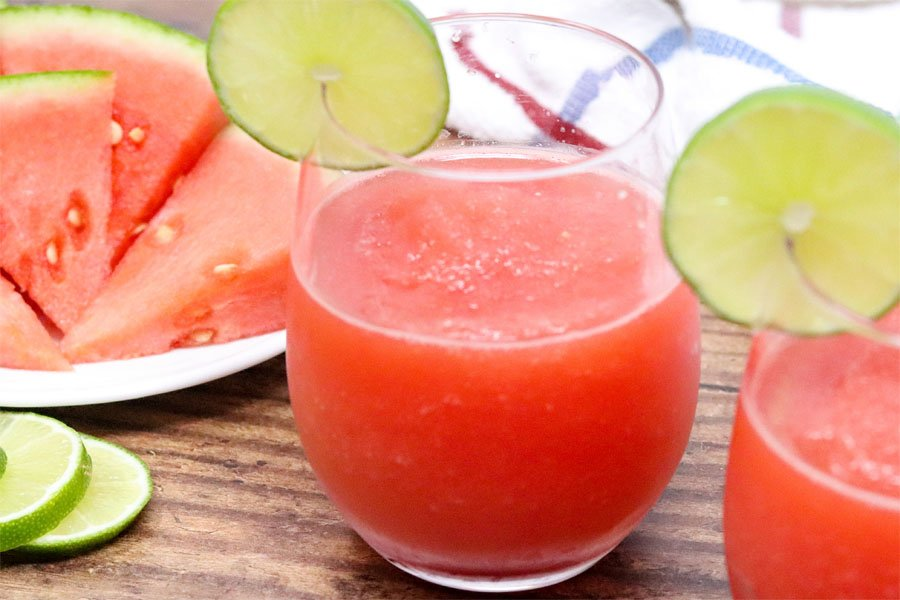 watermelon lime slushies