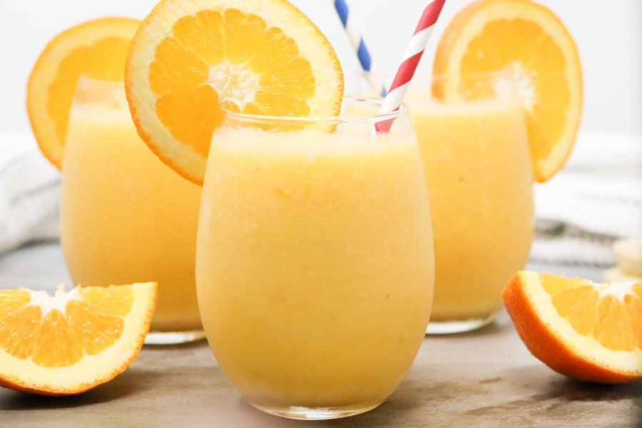 healthy orange creamsicle slushies