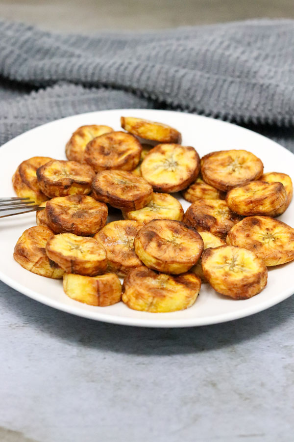 sweet plantain on a white plate