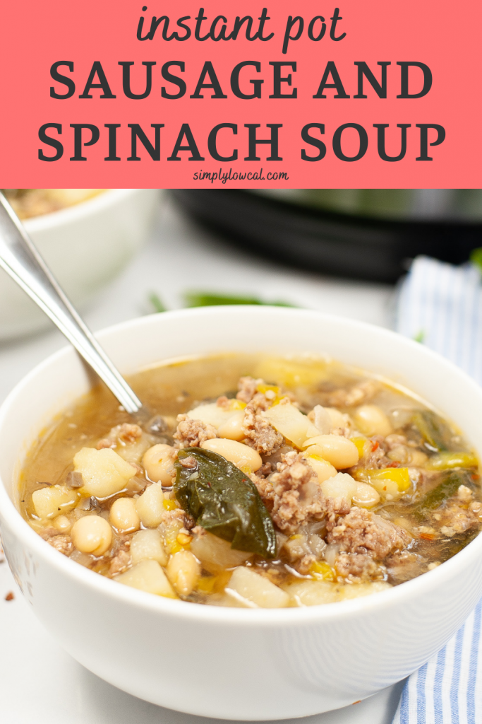 instant pot sausage and spinach soup