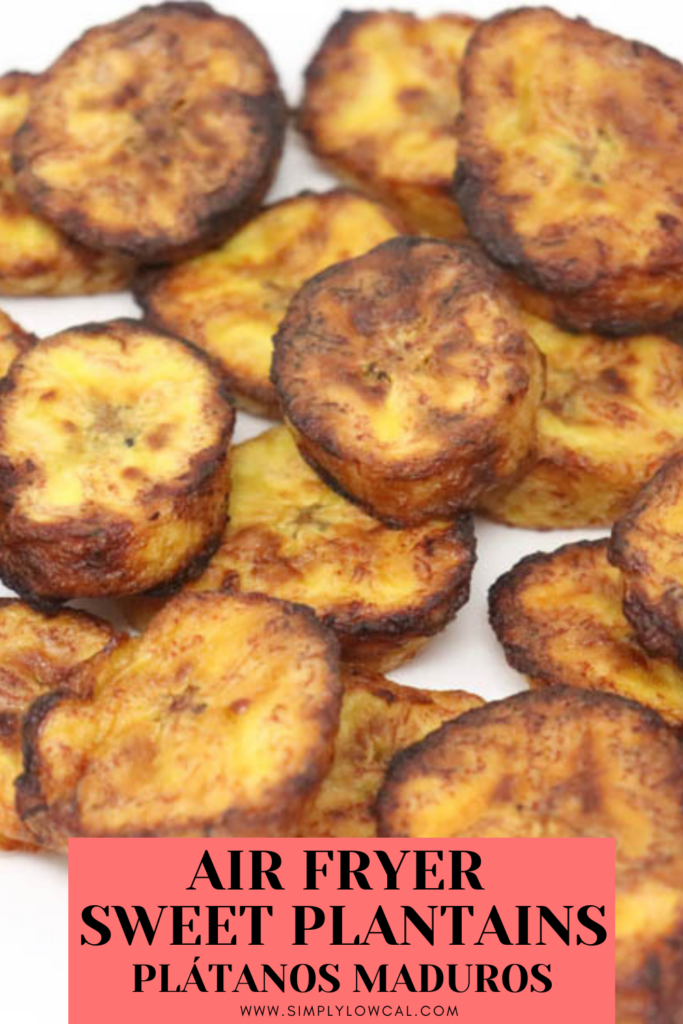air fryer sweet plantains pin