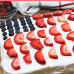 American Flag Cake WIth Fruit
