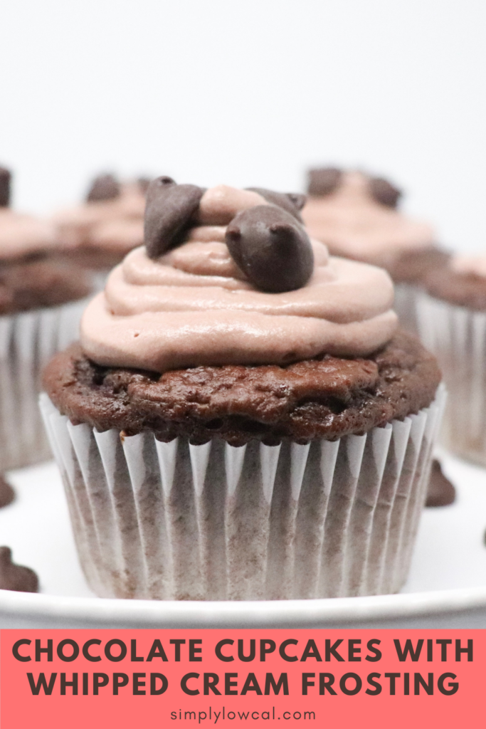 Chocolate Cupcakes With Whipped Cream Frosting pin