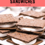 Graham Cracker And Whipped Cream Sandwiches pin