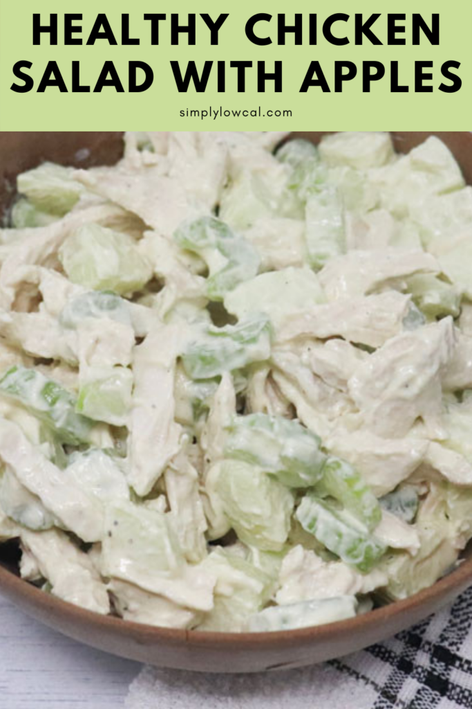 Healthy Chicken Salad With Apples pin