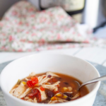 Instant Pot Chicken Taco Soup pin