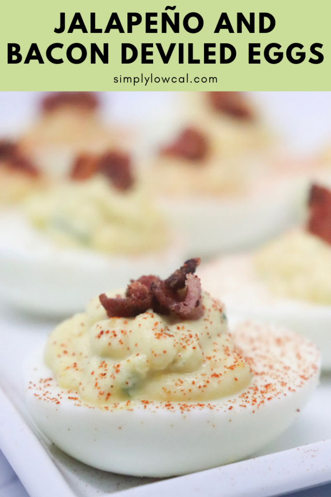 Jalapeño And Bacon Deviled Eggs pin