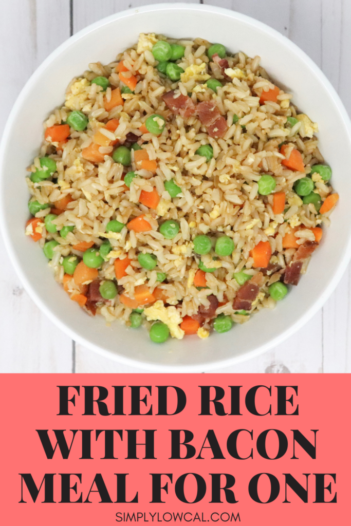 fried rice with bacon meal for one