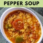 instant pot stuffed pepper soup pin