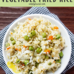 instant pot vegetable fried rice pin