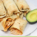 oven baked chicken chimichangas pin
