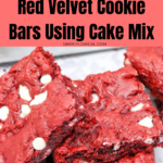 red velvet cookie bars using cake mix pin