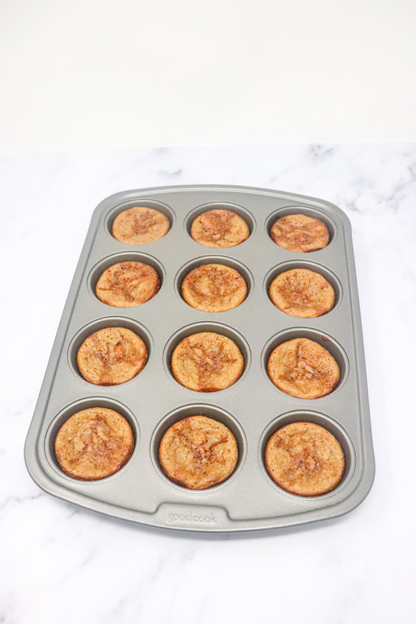 baked muffins in a muffin tray