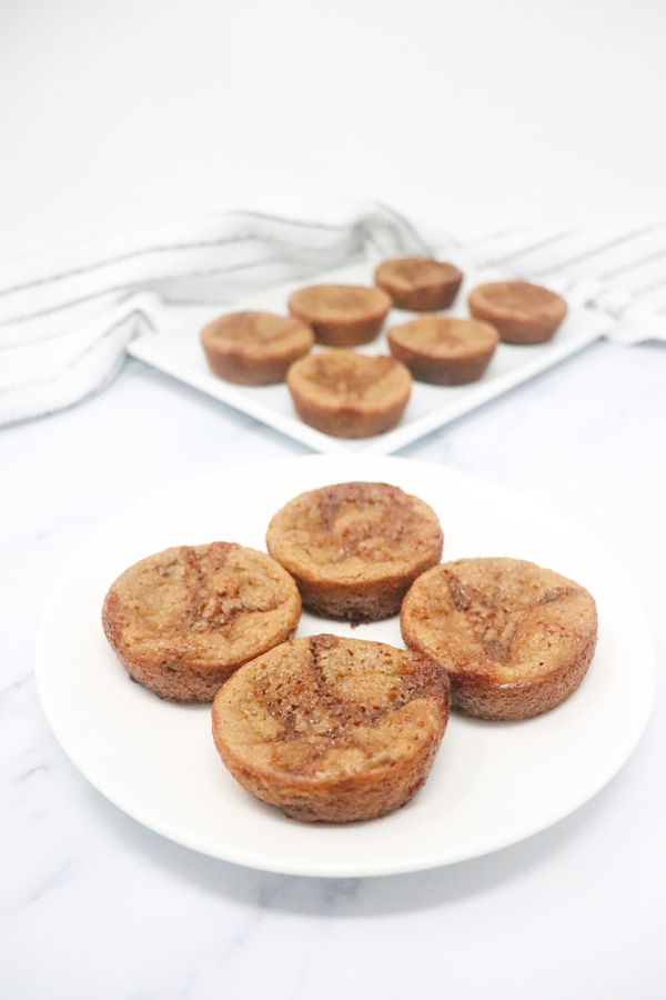 bran muffins on a white plate