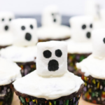 spooky halloween ghost cupcakes pin