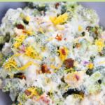 keto broccoli salad pin
