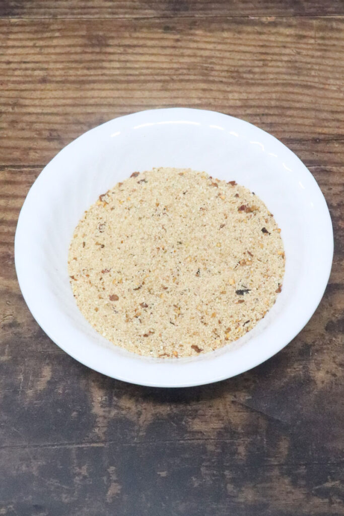 bread crumbs in a white bowl