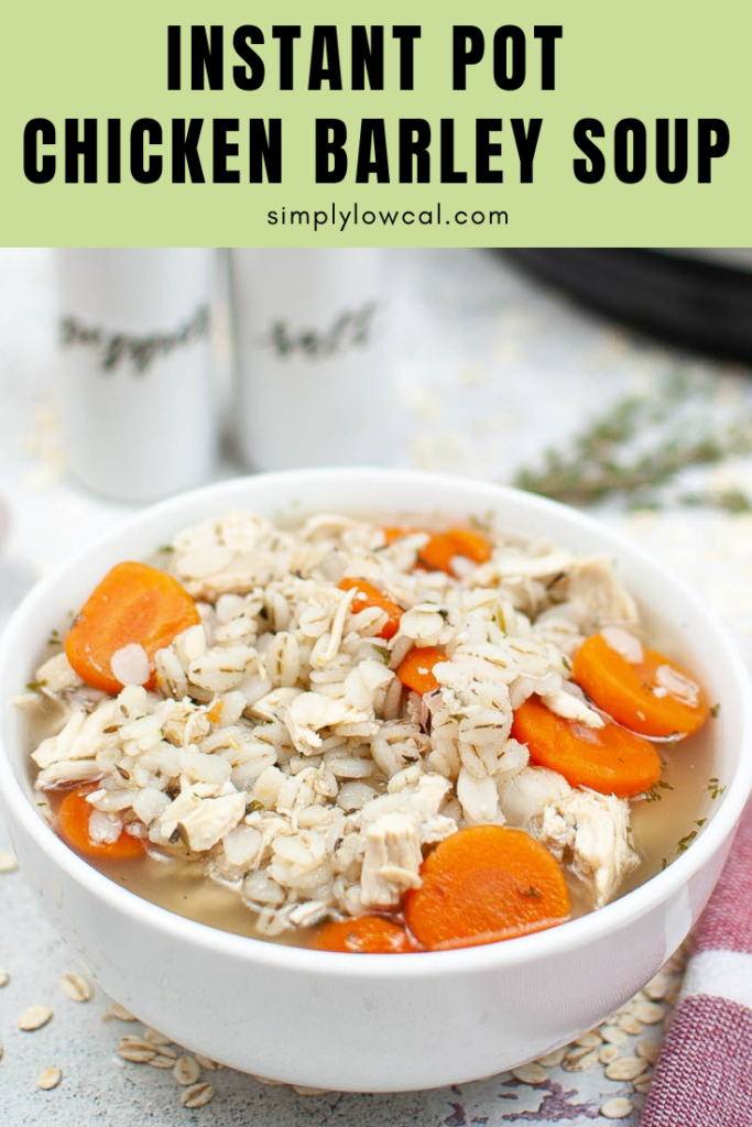 instant pot chicken barley soup pin